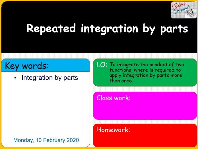 Repeated integration by parts