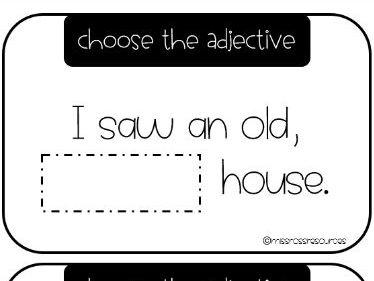 KS1 Choose the adjective