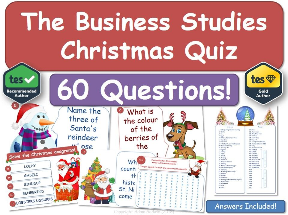 Business Studies Christmas Quiz!