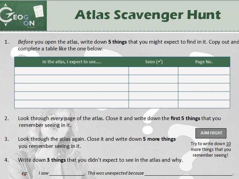 Atlas Scavenger Hunt