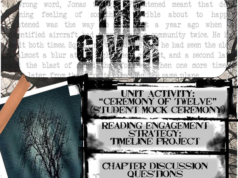 The Giver: Complete Unit Packet (Projects, Chapter Questions, Exam and more)