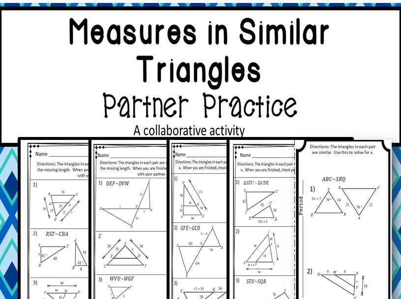 Similar Triangles Partner Practice