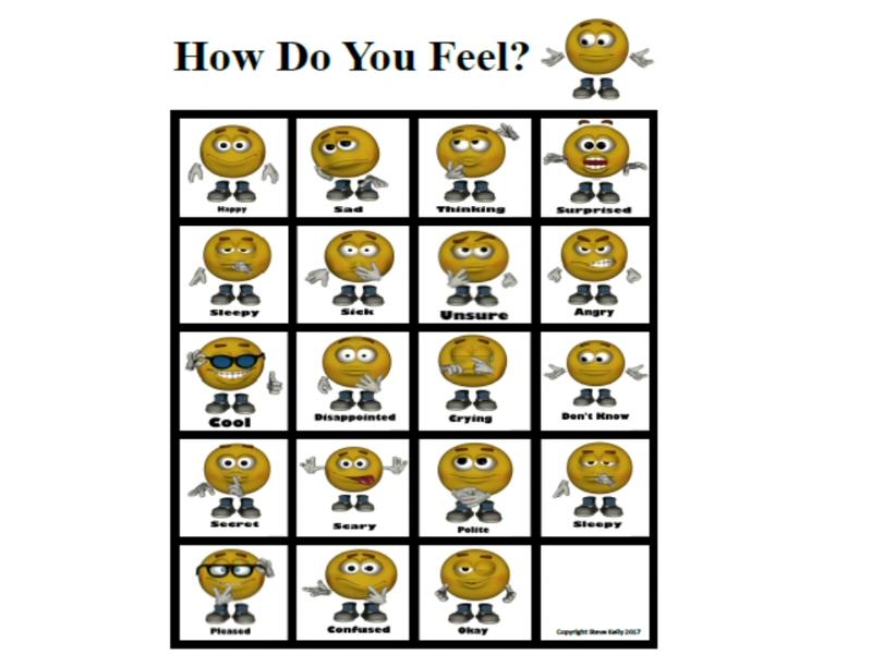 How Do You Feel? A3 size wallchart.