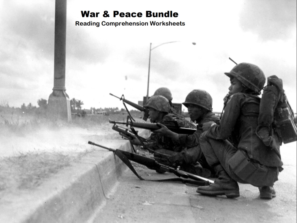 War & Peace Bundle - Reading Comprehension Worksheets (50%OFF)