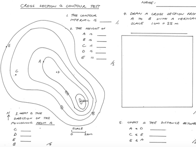 Interpreting Contour Lines On Topographic Maps Worksheet By