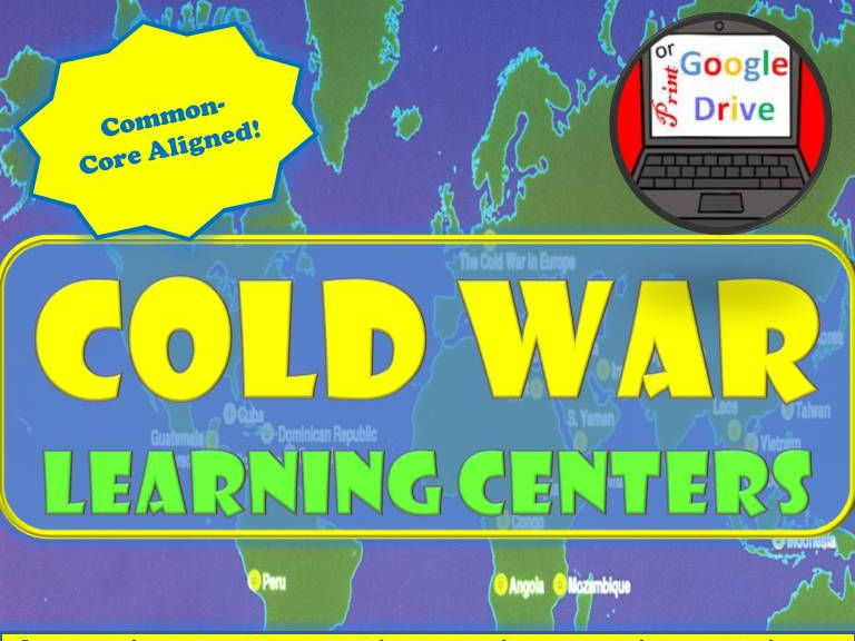 Cold War Learning Centers Cooperative Activity (World History) Print and Digital