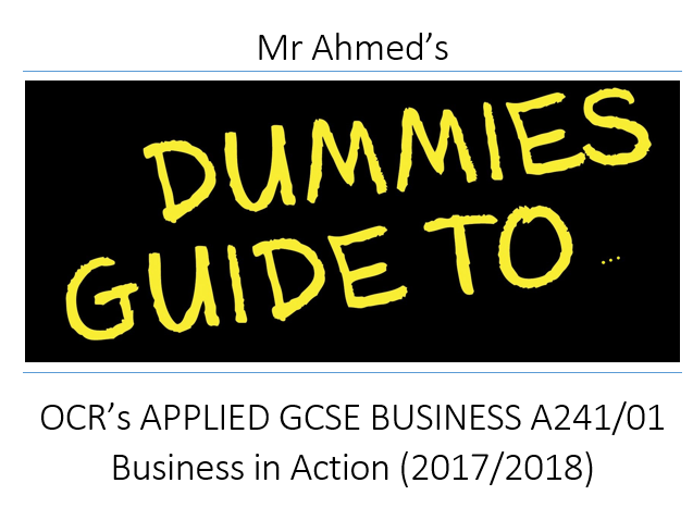 Complete Revision Guide for OCR GCSE A241/01 - WORD version