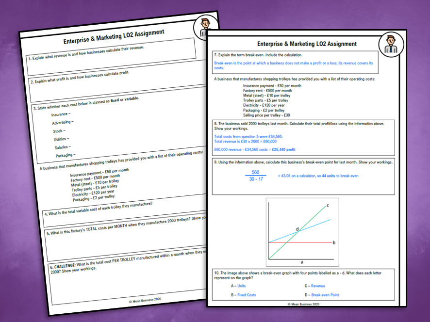 R064 LO2 Summary / Home Learning Sheet