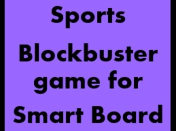 Sportarten (Sports in German) Blockbuster game for Smartboard
