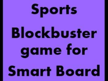 Sportarten (Sports in German) Blockbuster game for Smartboard