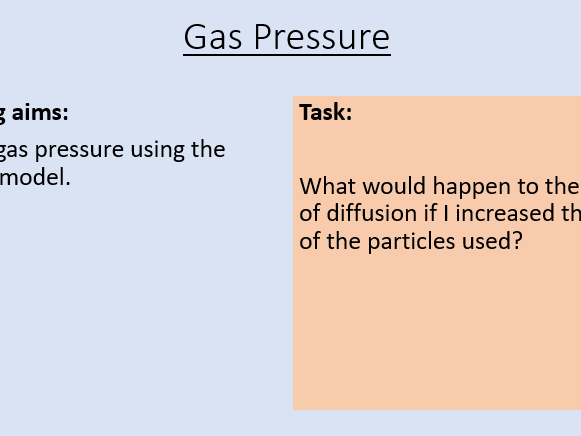 KS3 Gas Pressure