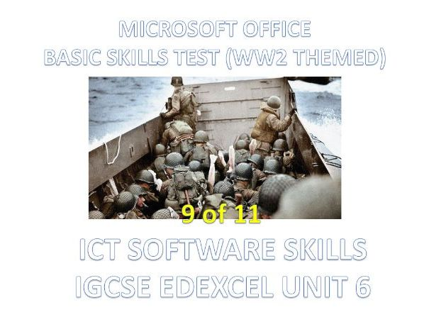 ICT - Microsoft Office First Basic Skills Test - IGCSE Edexcel Unit 6 Software Skills (9 of 11)