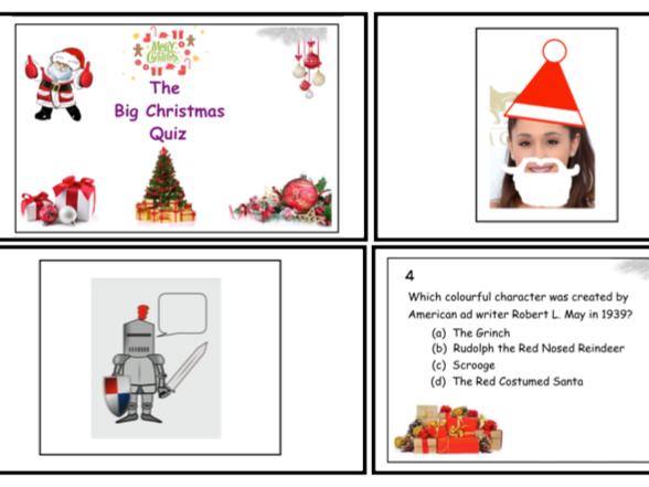 Big Christmas Quiz & Christmas Dingbats