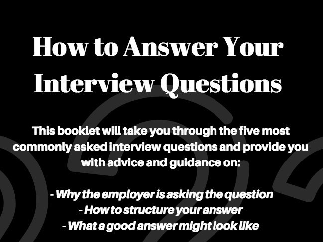 Five Common Interview Questions & How to Answer Them