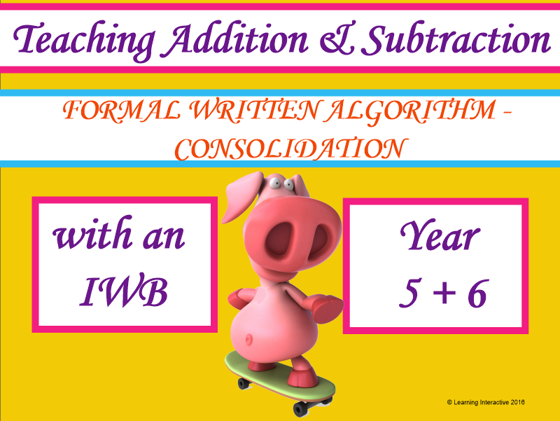 Formal Written Algorithm Consolidation - Year 6
