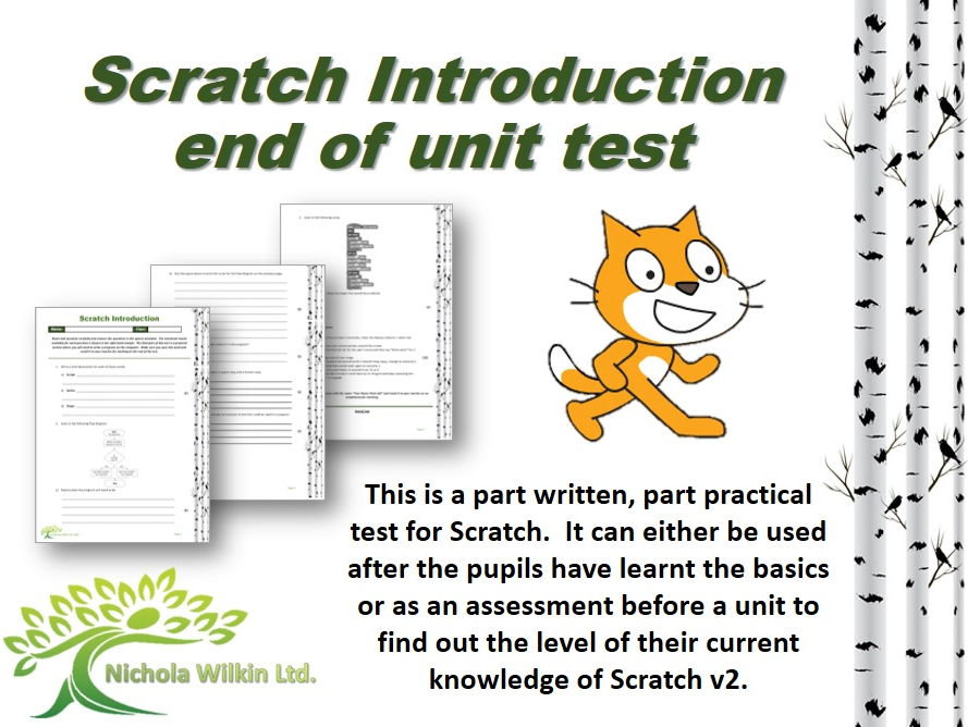 KS2 and KS3 Computing: Scratch Introduction Test