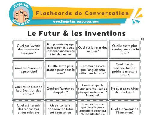 Le Futur & les Inventions - French Conversation Flashcards