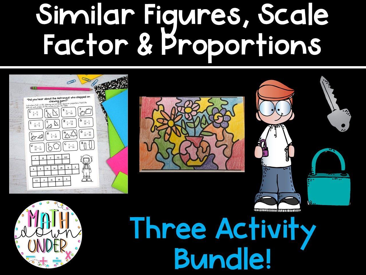 Similar Figures, Scale Factor, & Proportions Activity Bundle! 3 Math Activities