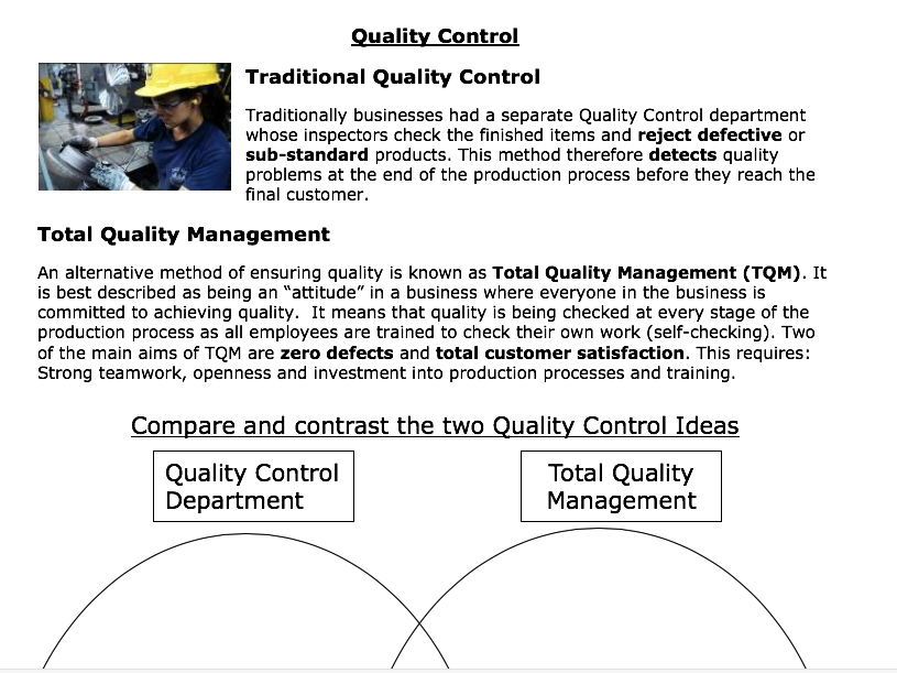 how to improve quality in production