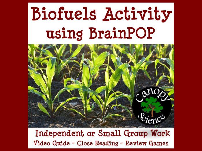 Biofuels Activity using BrainPOP