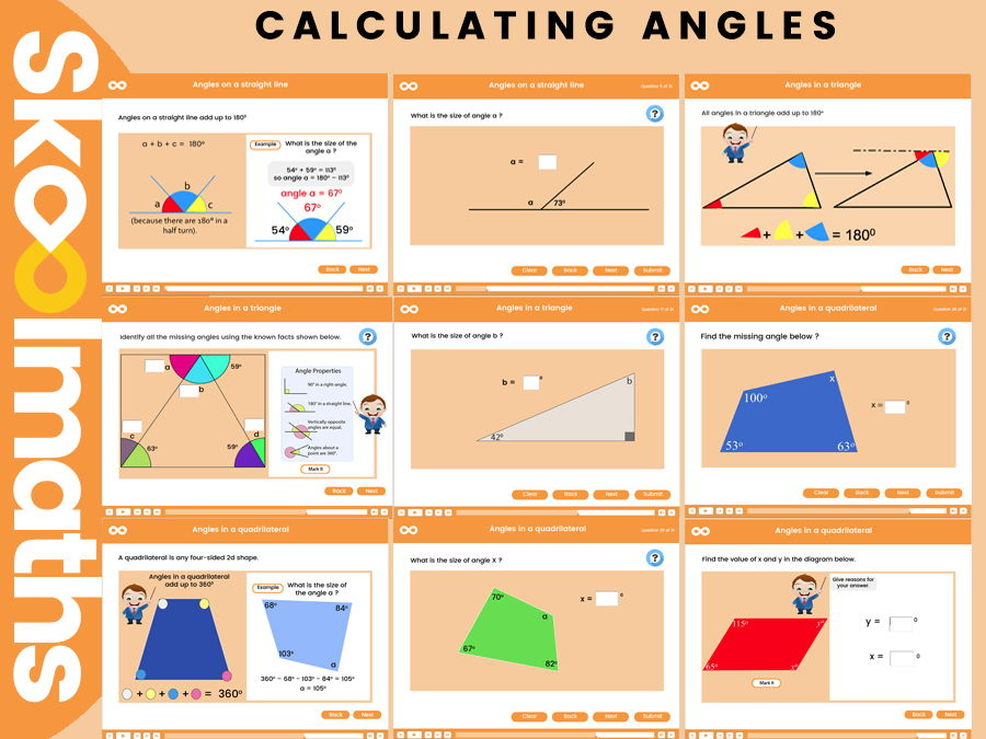Calculating Angles - Key Stage 3 Free lesson