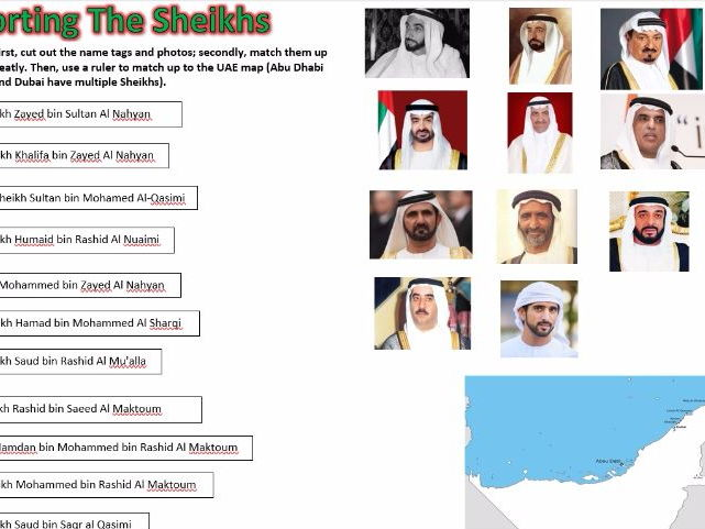 UAE Social Studies: Sorting The Sheikhs