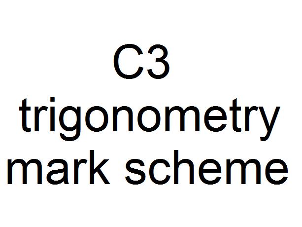 C3 simplifying fractions mark scheme