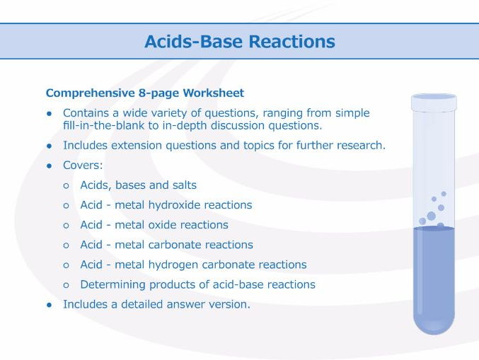 Acid-Base Reactions [Worksheet]