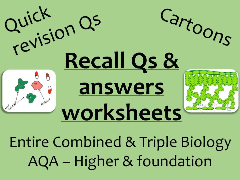 AQA Biology GCSE recall Qs - ALL combined and triple