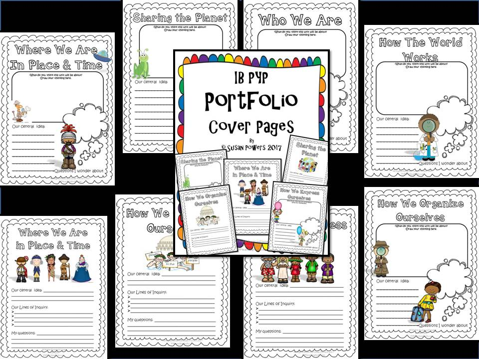 Back to School IB PYP Portfolio Cover Sheets