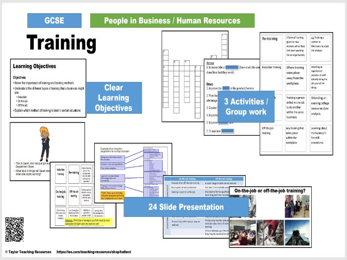 Training - Human Resources GCSE Business Full Lesson