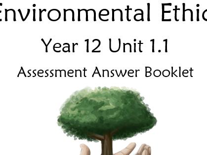 Religious Studies AS - Environmental Ethics Assessment