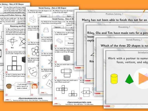 Year 6 Nets of 3D Shapes Summer Block 1 Lesson Pack