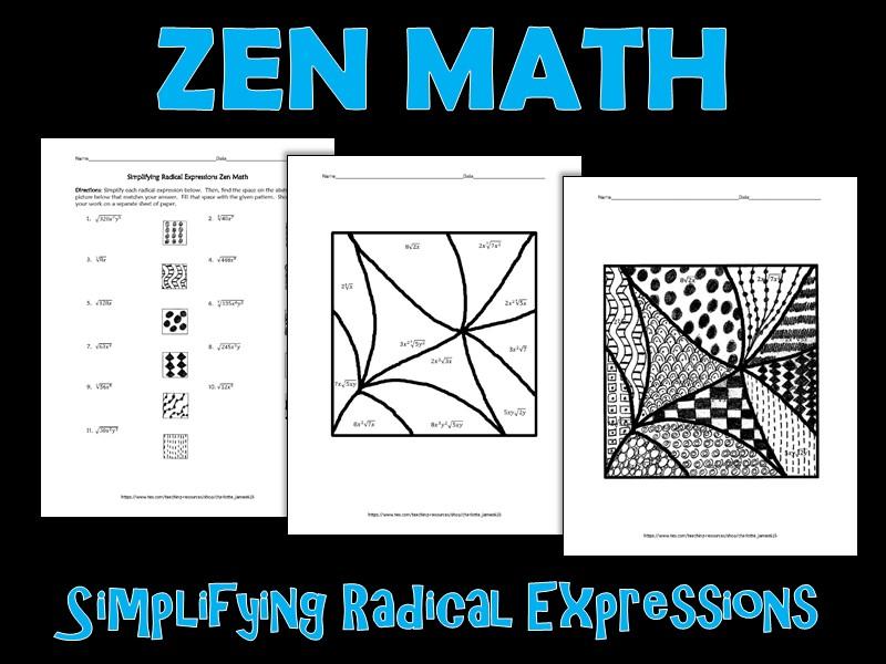 Simplifying Radical Expressions Zen Math