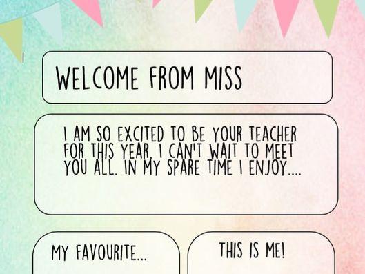 Teacher Profile Templates