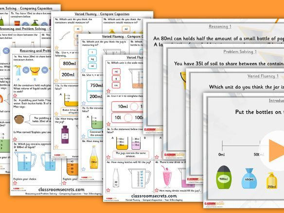 Year 3 Compare Capacities Summer Block 4 Step 7 Lesson Pack