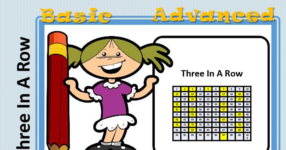 3 in a row - Maths game to test multiplication and much more
