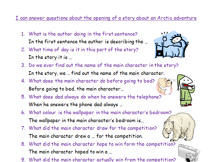 Arctic Story Comprehension Double Lesson