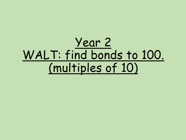 Bonds to 100 (multiples of 10).