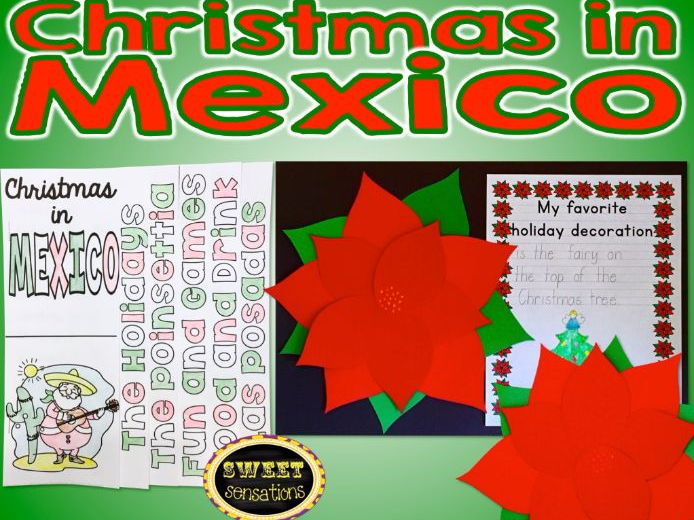Christmas in Mexico Poinsettia craft and activities