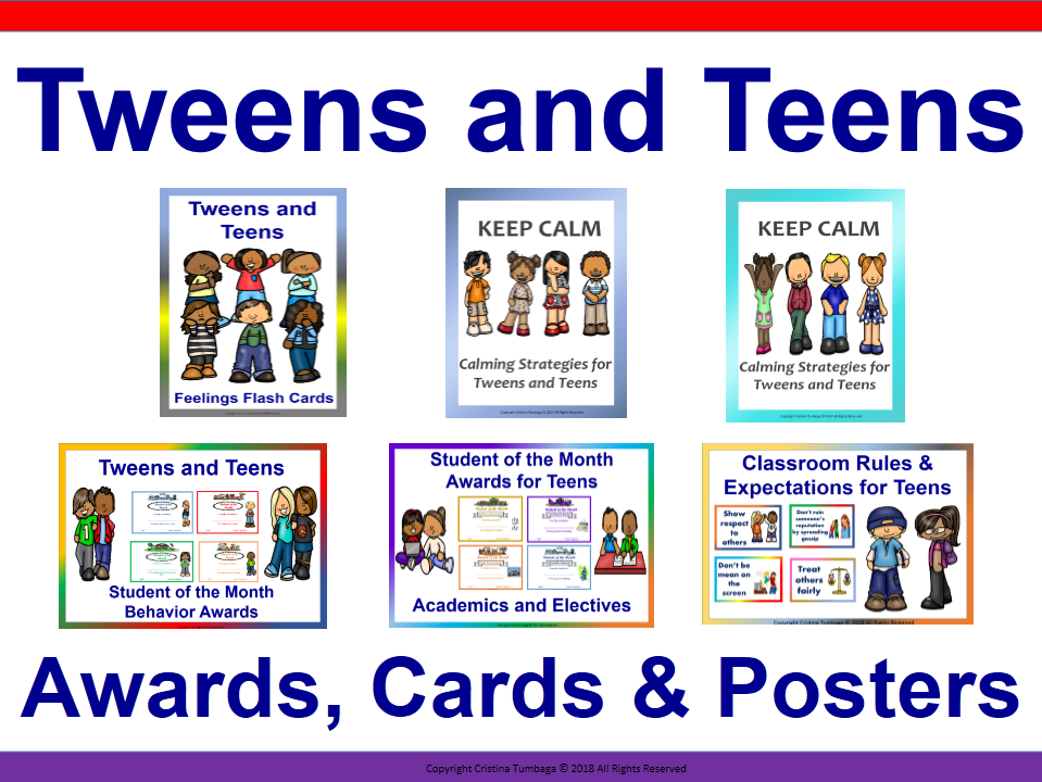 Tweens and Teens Awards, Cards & Posters Bundle