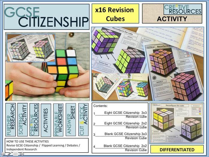 Citizenship GCSE Revision 9-1 Cubes x16