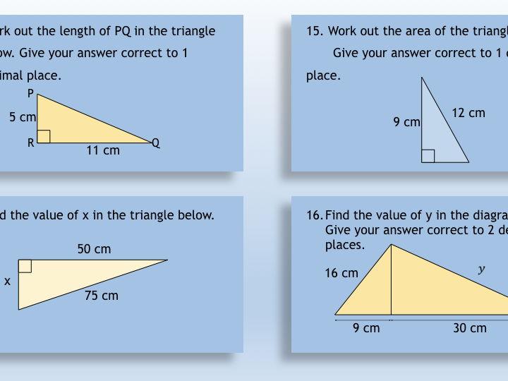 GCSE Mathematics Revision Game 6