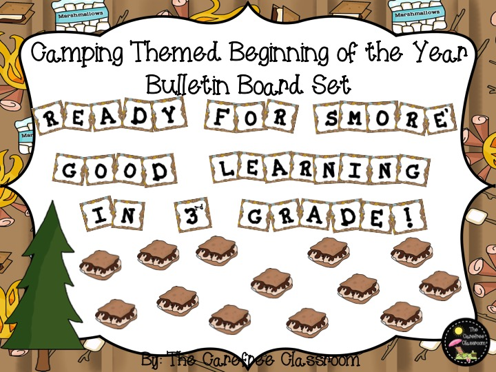 Bulletin Board Set: Camping Themed Back to School Set