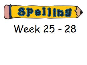 Year 3 Spelling Planning and Homework Resources - Week 25 - 28