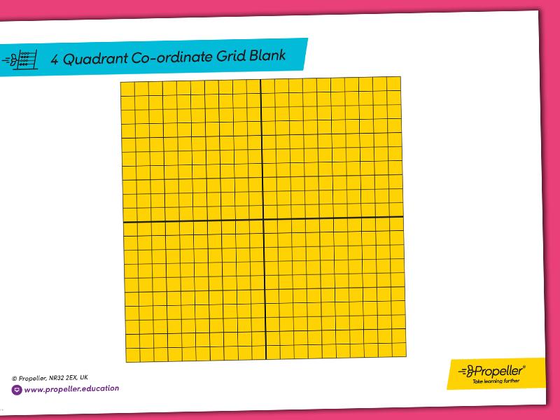 4 Quadrant Co-ordinate Grid Template