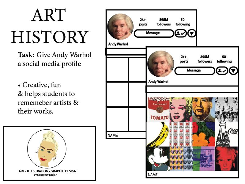 Art History: Give Andy Warhol a social media profile