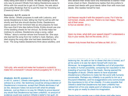 Othello Plot and Quote  Revision  Guide
