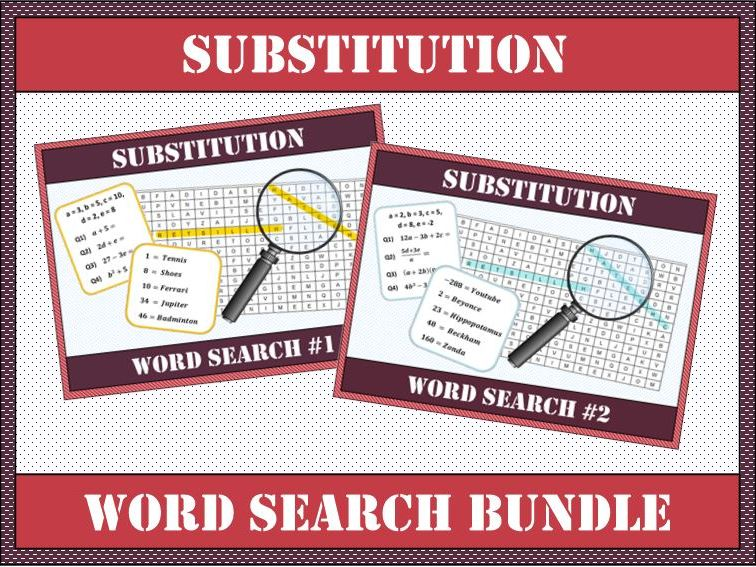 ⭐ 🔠 Substitution BUNDLE Word Search #1 & #2 🔎 ⭐