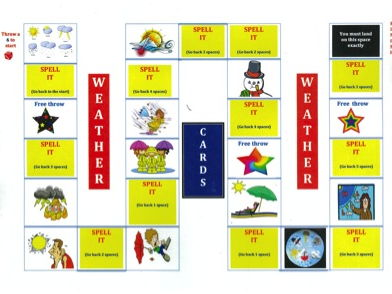 KS2 Weather - Spelling - Board Game